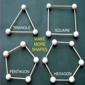 Geometrical Shapes  - Toothpick Meccano(Math)