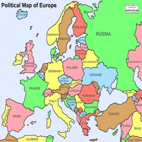 Europe Map (Geography)